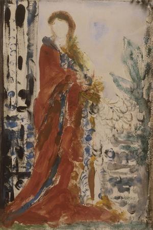 Costume du matin pour un portrait moderne-Gustave Moreau-Stretched Canvas Print