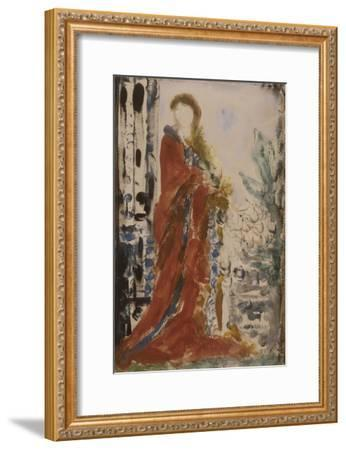 Costume du matin pour un portrait moderne-Gustave Moreau-Framed Giclee Print