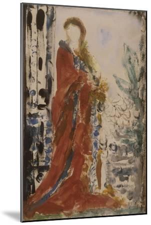 Costume du matin pour un portrait moderne-Gustave Moreau-Mounted Giclee Print