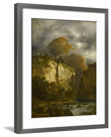 Paysage montagneux-Alexandre Calame-Framed Giclee Print