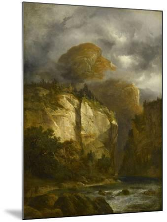 Paysage montagneux-Alexandre Calame-Mounted Giclee Print
