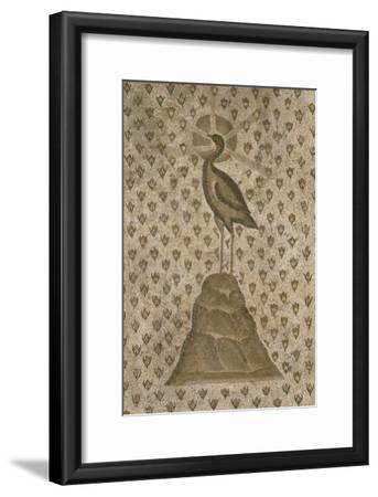 Mosaïque de sol : Le Phénix sur un semis de boutons de roses--Framed Giclee Print