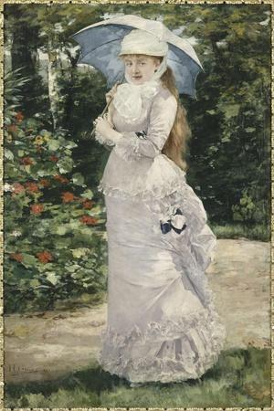 Madame Valtesse de la Bigne (1861-1910)-Henri Gervex-Stretched Canvas Print