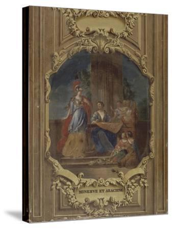 Minerve considérant l'ouvrage d'Arachné-Alexandre Ubelesqui-Stretched Canvas Print