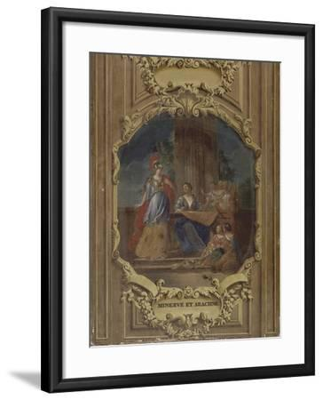 Minerve considérant l'ouvrage d'Arachné-Alexandre Ubelesqui-Framed Giclee Print