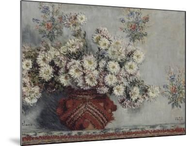 Chrysanthèmes-Claude Monet-Mounted Giclee Print