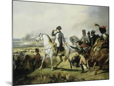 Napoléon Ier à la bataille de Wagram, 6 juillet 1809 (il est accompagné du général Bessières)-Horace Vernet-Mounted Giclee Print