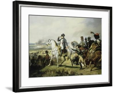 Napoléon Ier à la bataille de Wagram, 6 juillet 1809 (il est accompagné du général Bessières)-Horace Vernet-Framed Giclee Print