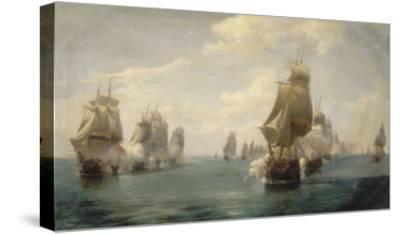 Combat naval de la Dominique, le 17 avril 1780-Pierre Julien Gilbert-Stretched Canvas Print