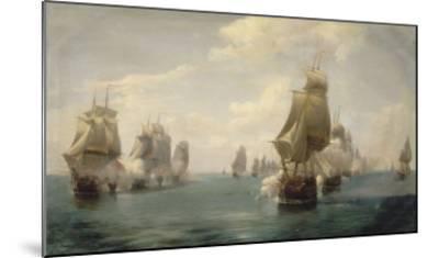 Combat naval de la Dominique, le 17 avril 1780-Pierre Julien Gilbert-Mounted Giclee Print