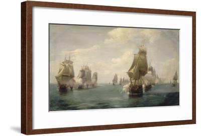Combat naval de la Dominique, le 17 avril 1780-Pierre Julien Gilbert-Framed Giclee Print