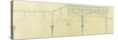 Bibliothèque Nationale, salle de lecture, ensemble des coupoles-et Baudet Leturc-Framed Stretched Canvas Print