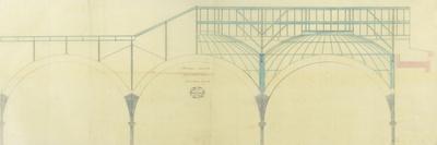 Bibliothèque Nationale, salle de lecture, ensemble des coupoles-et Baudet Leturc-Stretched Canvas Print
