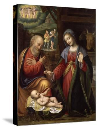 La Nativité-Bernardino Luini-Stretched Canvas Print