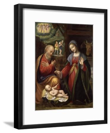 La Nativité-Bernardino Luini-Framed Giclee Print