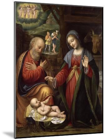 La Nativité-Bernardino Luini-Mounted Giclee Print
