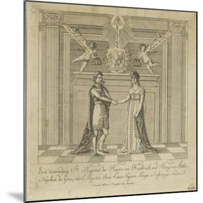 Napoleon and Marie Louise, the Covenant of Marriage--Mounted Giclee Print