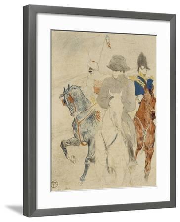 Napoléon Ier à cheval-Henri de Toulouse-Lautrec-Framed Giclee Print