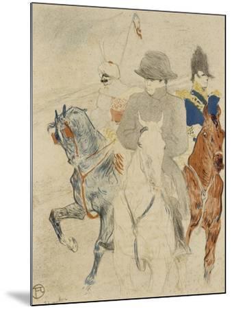 Napoléon Ier à cheval-Henri de Toulouse-Lautrec-Mounted Giclee Print