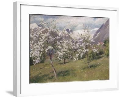 Norvège, verger en fleur (Harland) .1898-Johannes Martin Grimelund-Framed Giclee Print
