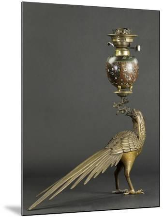 Lampe à pétrole soutenue par un faisan--Mounted Giclee Print