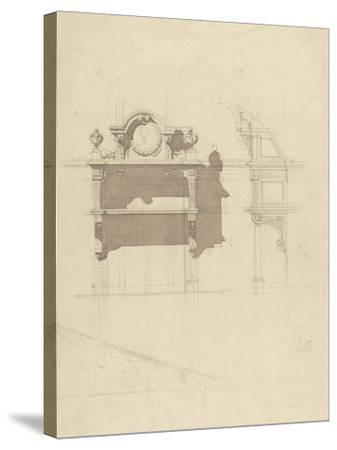 Esquisse de boiserie sculptée-Antoine Zoegger-Stretched Canvas Print