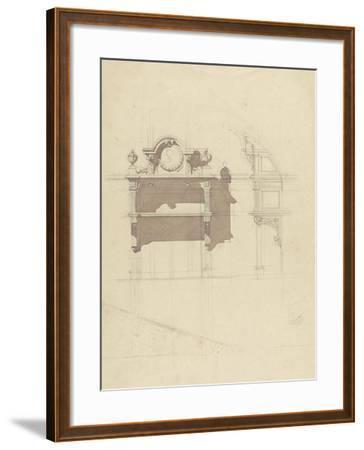 Esquisse de boiserie sculptée-Antoine Zoegger-Framed Giclee Print