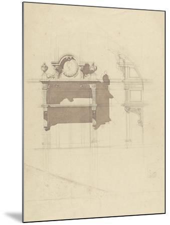 Esquisse de boiserie sculptée-Antoine Zoegger-Mounted Giclee Print
