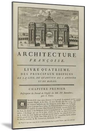 Page  99 : page de titre du Livre Quatrième . Vue de l'arc de triomphe en l'honneur de Louis XIV-Pate-Mounted Giclee Print