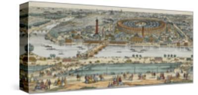 Vue générale de Paris et de l'expostion universelle de 1867, prise des hauteurs du Trocadéro--Stretched Canvas Print
