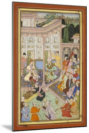 Page d'un manuscrit dispersé du Babur-nâme--Mounted Giclee Print