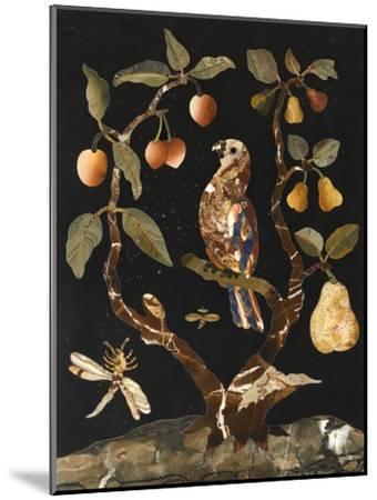 Panneau : Fruits et oiseaux--Mounted Giclee Print