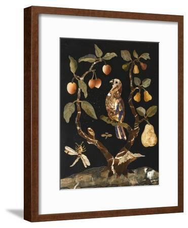 Panneau : Fruits et oiseaux--Framed Giclee Print
