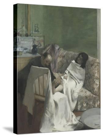 Le pédicure-Edgar Degas-Stretched Canvas Print