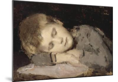 Paul Henner endormi-Jean Jacques Henner-Mounted Giclee Print