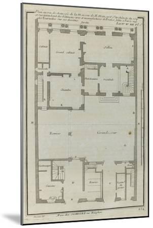 Planche 264 :  Plan au re-de-chaussée de la maison de Jules Hardouin-Mansart bâtie sur ses dessins-Jacques-Fran?ois Blondel-Mounted Giclee Print