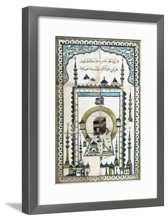 Plaque représentant la mosquée de la Mekke.--Framed Giclee Print