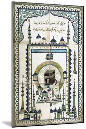 Plaque représentant la mosquée de la Mekke.--Mounted Giclee Print