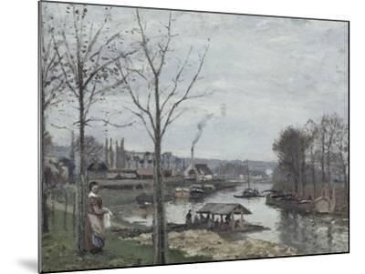 Port-Marly, le lavoir dit à tort le lavoir, Pontoise-Camille Pissarro-Mounted Giclee Print