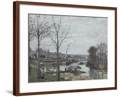 Port-Marly, le lavoir dit à tort le lavoir, Pontoise-Camille Pissarro-Framed Giclee Print