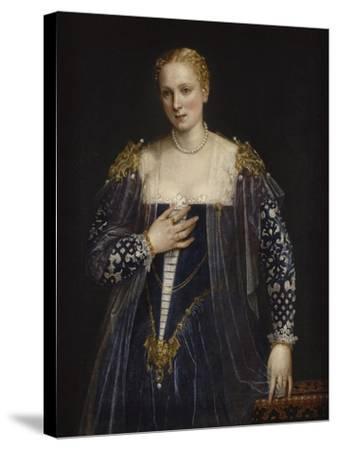Portrait de femme dit La Belle Nani. Avec cadre.-Paolo Veronese-Stretched Canvas Print