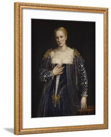 Portrait de femme dit La Belle Nani. Avec cadre.-Paolo Veronese-Framed Giclee Print