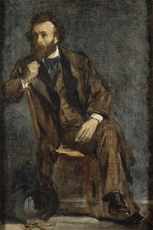 Portrait de Gustave Moreau-Edgar Degas-Stretched Canvas Print