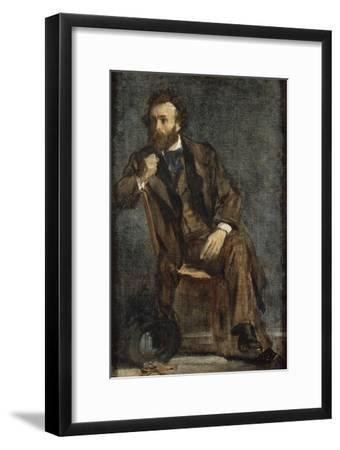 Portrait de Gustave Moreau-Edgar Degas-Framed Giclee Print