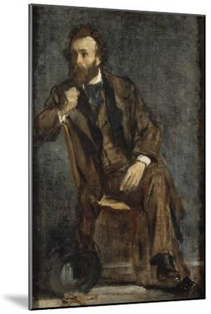 Portrait de Gustave Moreau-Edgar Degas-Mounted Giclee Print