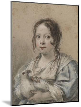Portrait d'Angélique Vouet vers cinq ans tenant une colombe-Simon Vouet-Mounted Giclee Print
