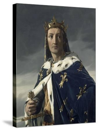 Portrait de Louis VIII (1187-1226), dit le Lion, roi de France en 1223-Henri Lehmann-Stretched Canvas Print