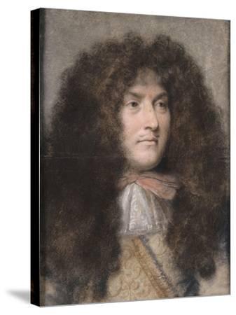 Portrait de Louis XIV-Charles Le Brun-Stretched Canvas Print