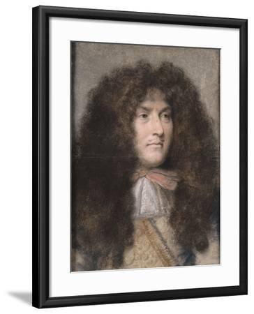 Portrait de Louis XIV-Charles Le Brun-Framed Giclee Print