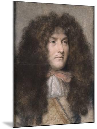 Portrait de Louis XIV-Charles Le Brun-Mounted Giclee Print